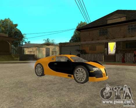 Bugatti Veyron pour GTA San Andreas vue de droite