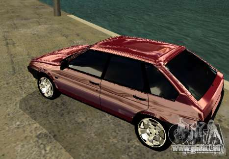 Vaz 2109 chrome pour GTA San Andreas vue de droite