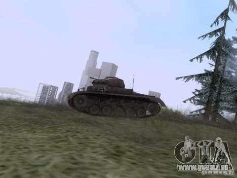 PzKpfw II Ausf.A pour GTA San Andreas laissé vue