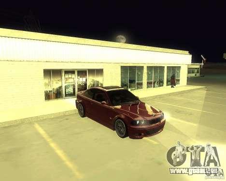BMW 330 Ci pour GTA San Andreas sur la vue arrière gauche