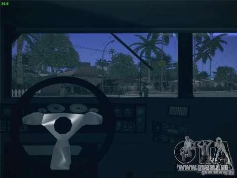 Hummer H1 1986 Police für GTA San Andreas Innenansicht