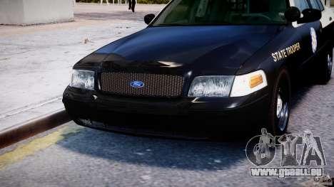Ford Crown Victoria Fl Highway Patrol Units ELS pour GTA 4 est une vue de dessous