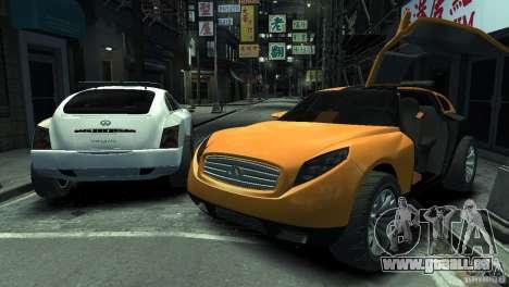 Infiniti Triant Concept pour GTA 4 est une gauche