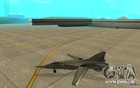 MiG-23 nach unten der Flogger für GTA San Andreas zurück linke Ansicht