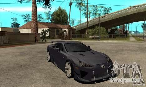 Lexus LFA 2010 v2 pour GTA San Andreas vue arrière