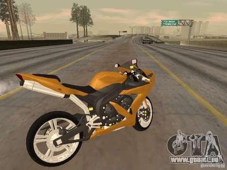 Yamaha YZF-R1 Custom pour GTA San Andreas sur la vue arrière gauche