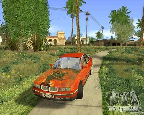 BMW 730i E38 1996 pour GTA San Andreas vue de côté