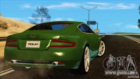 Aston Martin DB9 für GTA San Andreas Unteransicht
