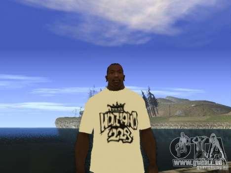T-Shirt NoGGano228 und AK 47 für GTA San Andreas