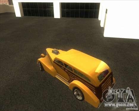 Custom Woody Hot Rod pour GTA San Andreas vue de côté