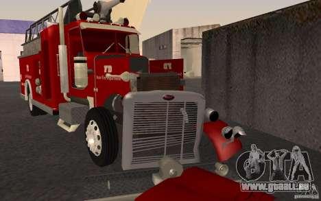 Peterbilt 379 Fire Truck ver.1.0 pour GTA San Andreas vue de côté