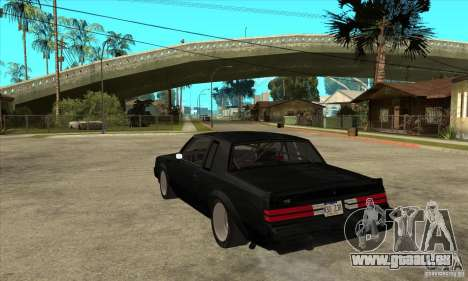 Buick Regal Grand National GNX für GTA San Andreas zurück linke Ansicht