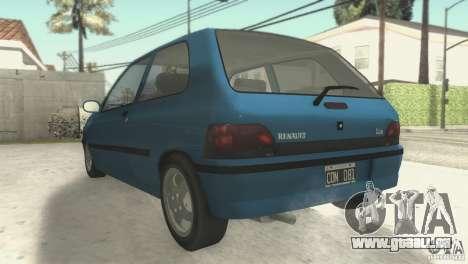 Renault Clio RL 1996 für GTA San Andreas zurück linke Ansicht