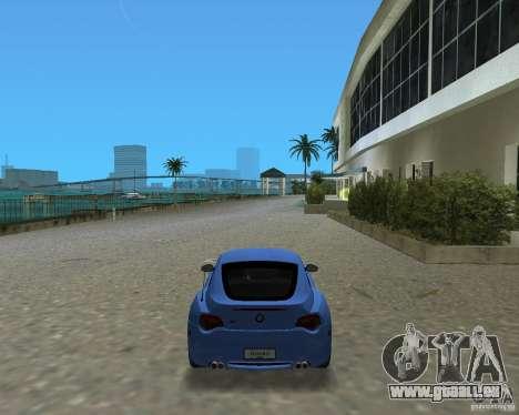 BMW Z4 pour une vue GTA Vice City de la gauche