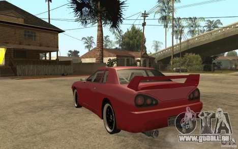 Drift Elegy pour GTA San Andreas sur la vue arrière gauche