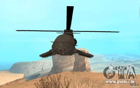 Scout Drone from BO2 für GTA San Andreas zurück linke Ansicht