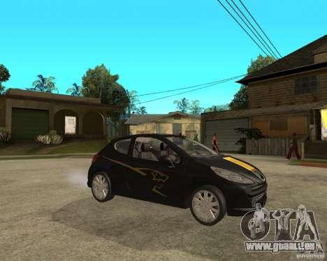 PEUGEOT 207 Griffe LANCARSPORT für GTA San Andreas rechten Ansicht