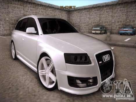 Audi RS6 Avant pour GTA San Andreas vue arrière