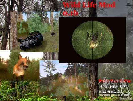 Wild Life Mod 0.1b pour GTA San Andreas