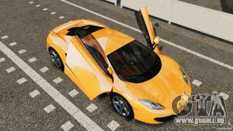 McLaren MP4-12C v1.0 [EPM] pour GTA 4 Vue arrière