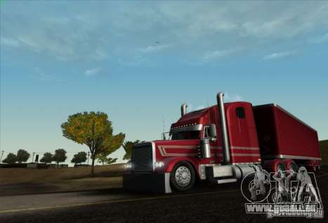 Trailer für Freightliner Classic XL Custom für GTA San Andreas zurück linke Ansicht