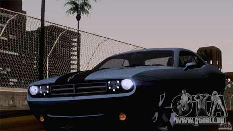 Dodge Challenger SRT8 pour GTA San Andreas laissé vue