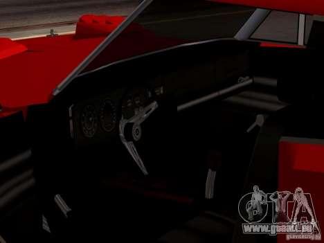 Dodge Charger Daytona 440 für GTA San Andreas Rückansicht