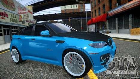 BMW X 6 Hamann pour GTA 4 est une vue de l'intérieur