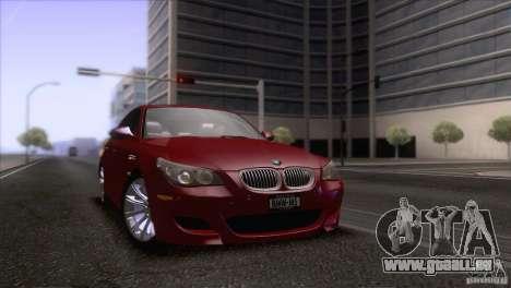 BMW M5 2009 pour GTA San Andreas moteur