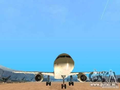 Airbus A320 Air France pour GTA San Andreas vue arrière