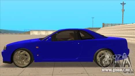 Nissan Skyline R34 FNF4 pour GTA San Andreas laissé vue