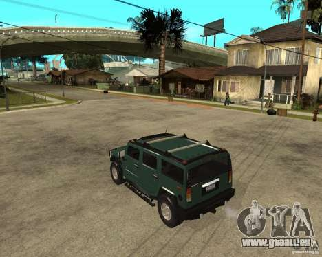AMG H2 HUMMER SUV pour GTA San Andreas laissé vue