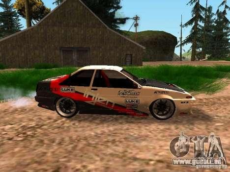 Toyota AE86 Coupe pour GTA San Andreas laissé vue