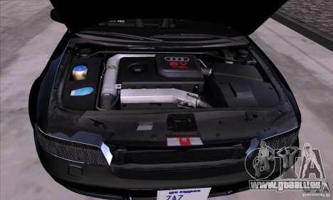 Audi S4 Light Tuning pour GTA San Andreas vue arrière