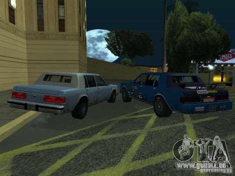 GreenWood Racer pour GTA San Andreas sur la vue arrière gauche