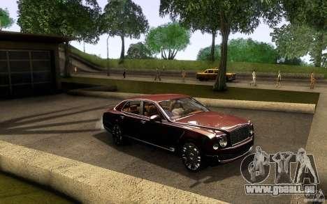 Bentley Mulsanne 2010 v1.0 pour GTA San Andreas vue intérieure