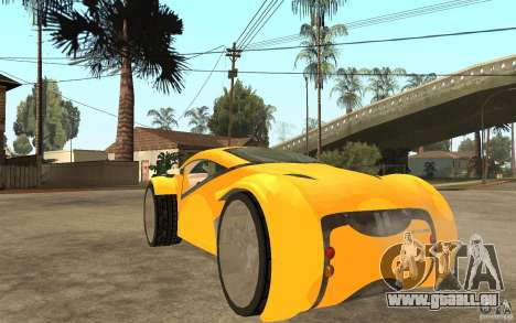 Lexus Concept 2045 pour GTA San Andreas sur la vue arrière gauche