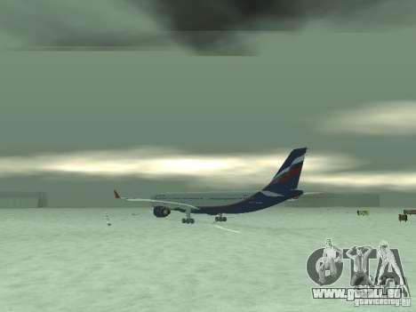 Airbus A330-300 Aeroflot pour GTA San Andreas vue de droite
