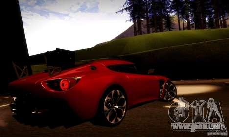 Aston Martin V12 Zagato Final für GTA San Andreas Seitenansicht