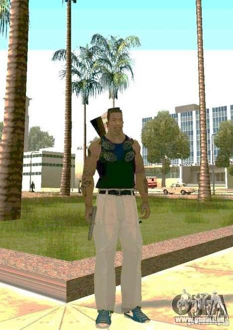 Armes sur les corps pour GTA San Andreas deuxième écran