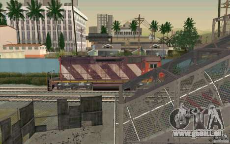 CN SD40 ZEBRA STRIPES pour GTA San Andreas salon