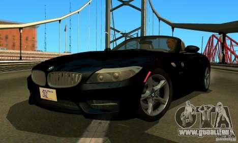 BMW Z4 2010 pour GTA San Andreas vue arrière