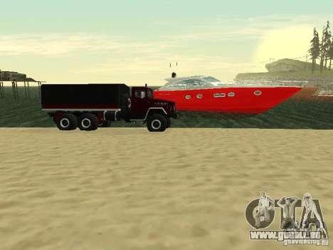 KrAZ 260 pour GTA San Andreas sur la vue arrière gauche