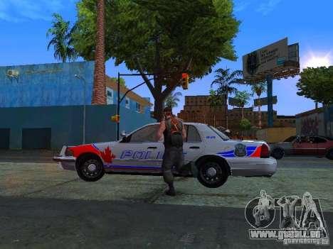 Ford Crown Victoria Police Patrol für GTA San Andreas zurück linke Ansicht
