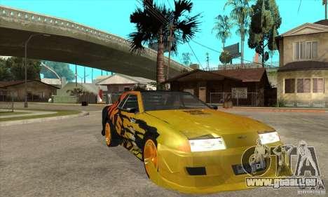 Tuneable Elegy v0.1 pour GTA San Andreas vue arrière
