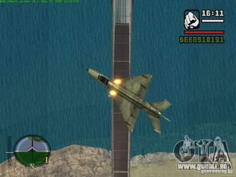 MIG 21 neu für GTA San Andreas linke Ansicht