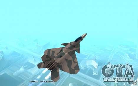 F/A-22 Velociraptor für GTA San Andreas zurück linke Ansicht