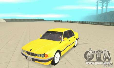 BMW 750I E32 für GTA San Andreas Innenansicht