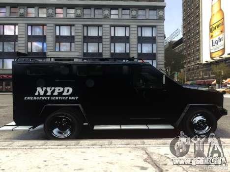 Lenco BearCat NYPD ESU V.1 pour GTA 4 Vue arrière