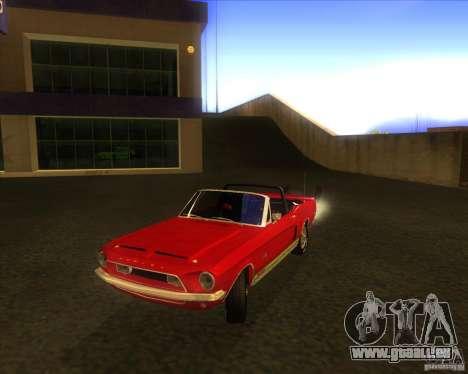 Shelby GT500KR convertible 1968 für GTA San Andreas zurück linke Ansicht